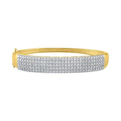 4 CT. T.W. Genuine White Diamond 10K Gold Bangle Bracelet