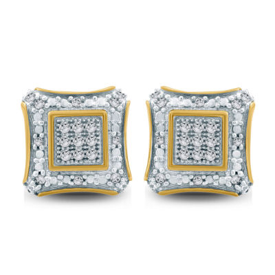 1/6 CT. T.W. White Diamond 10K Gold 8.1mm Stud Earrings