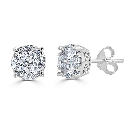 9a94645b2 1/2 CT. T.W. Genuine White Diamond 5.5mm Stud Earrings - JCPenney