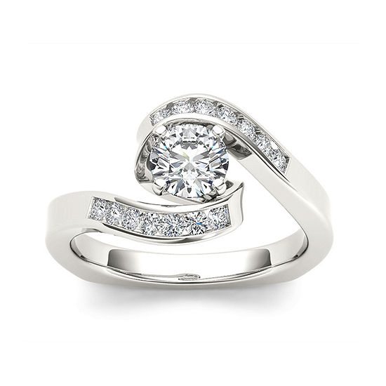 Womens 3/4 CT. T.W. Genuine White Diamond 14K Gold