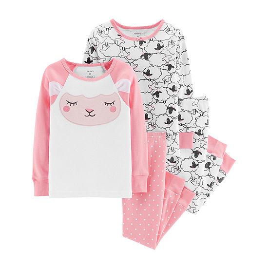 Carter's Girls 4-pc. Pant Pajama Set Baby