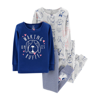 Carter's 4pc Doggie Pajama Set- Toddler Girl