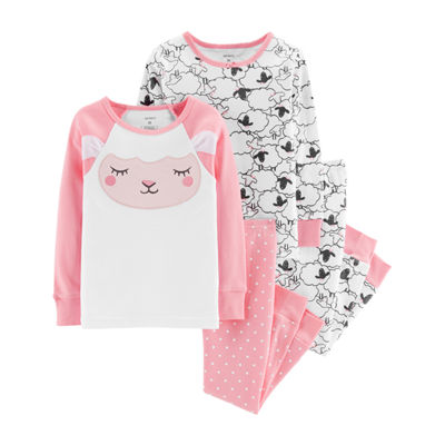Carter's 4pc Lamb Pajama Set- Toddler Girl