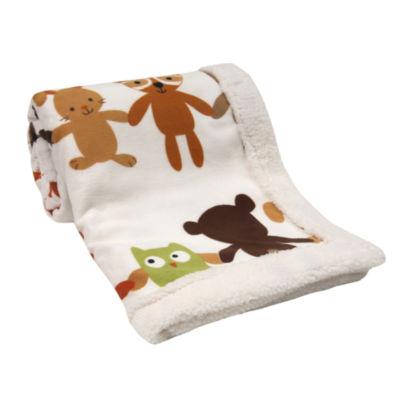 Lambs & Ivy Echo Sherpa Baby Blanket
