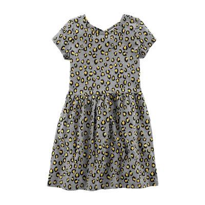Carter's Carters Dress Short Sleeve Animal A-Line Dress - Preschool Girls