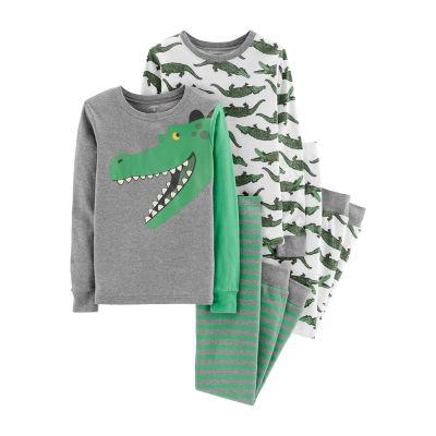 Carter's 4-pc. Alligator Snug Fit Cotton Pajama Set - Preschool Boys