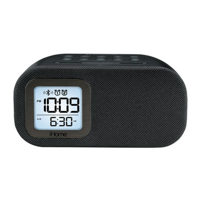 iHome iBT210B Bluetooth Dual Alarm FM Clock Radio with Speakerphone and USB Charging
