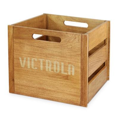 Victrola VA-20 Wooden Record and Vinyl Crate