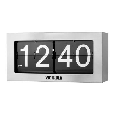 Victrola VC-425 Nostalgic Metal Flip Clock - Large