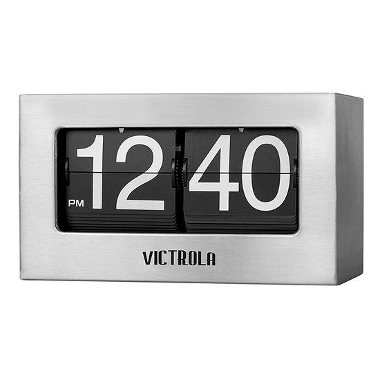 Victrola VC-450 Nostalgic Metal Flip Clock - Small