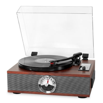 Victrola VTA-60 5-in-1 Wood Bluetooth Record Player with 3-Speed Turntable, CD and Radio