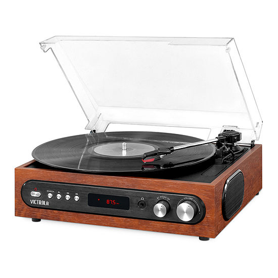 Victrola VTA-65 All-in-1 Bluetooth Record Player with Built-in Speakers and 3-Speed Turntable
