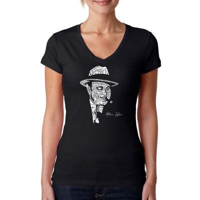 Los Angeles Pop Art Al Capone-Original Gangster Womens Graphic T-Shirt