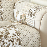 Patchwork Scalloped Printed Love Seat Protector