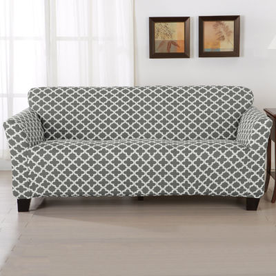 Trellis Stretch Fit Sofa Slip Cover