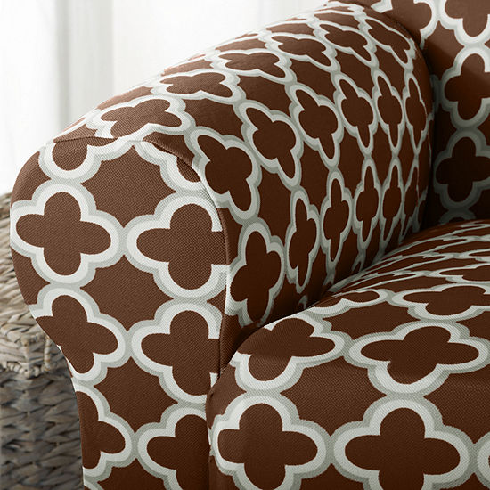 Trellis Stretch Fit Sofa Slip Cover