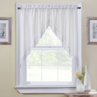 Regent Swag Rod-Pocket Kitchen Valance