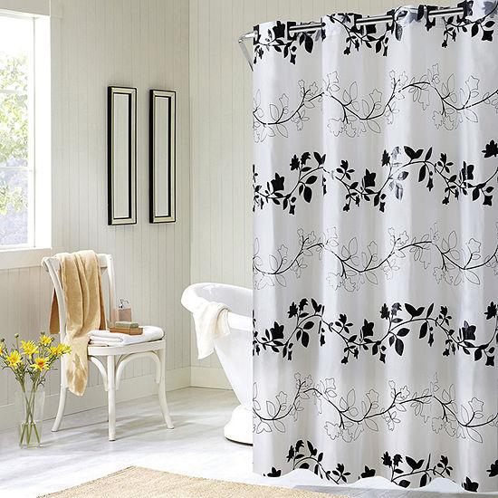 Hookless Peva Floral Vine Shower Curtain
