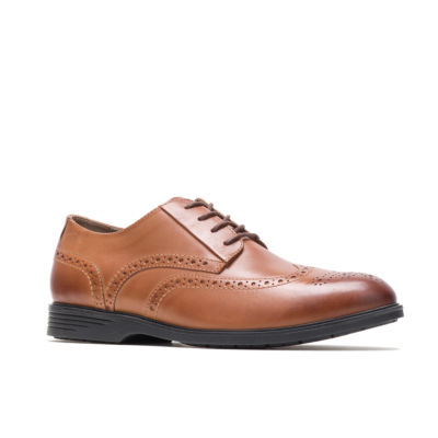 Hush Puppies Mens Shepsky Oxford Shoes Lace-up Wing Tip