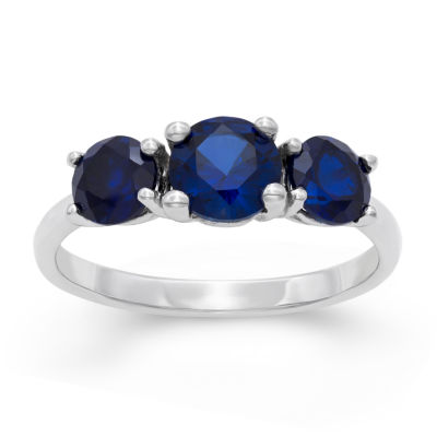 Womens Lab Created Blue Sapphire Cocktail Ring