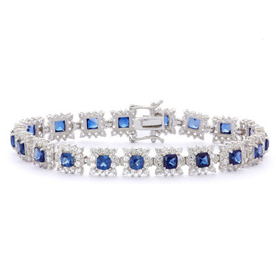 Lab Created White Sapphire Sterling Silver 6 1/2 Inch Tennis Bracelet