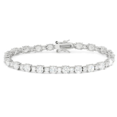 Lab Created White Sapphire Sterling Silver 7.25 Inch Tennis Bracelet