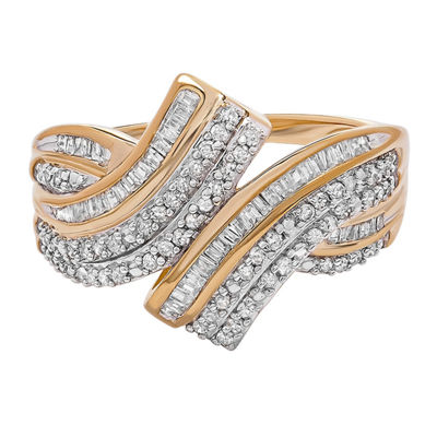 Womens 1/2 CT. T.W. White Diamond 10K Gold