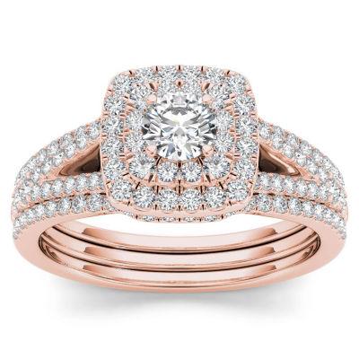 1 CT. T.W. White Diamond 10K Gold Bridal Set
