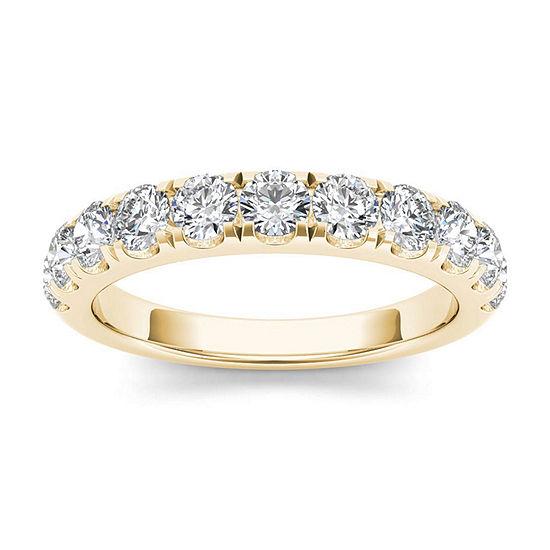 2 Mm 1 CT. T.W. Genuine White Diamond 14K Gold Wedding Band