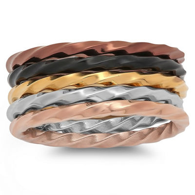 Womens Stainless Steel Stackable Ring