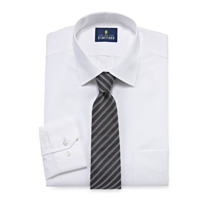 Stafford Dress Shirt And Tie Set Big And Tall