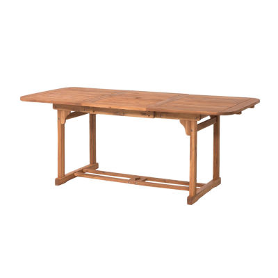 Acacia Wood Butterfly Patio Dining Table