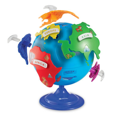 Learning Resources 14-pc. Interactive Puzzle Globe