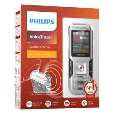 Philips DVT4010 Digital Voice Tracer Recorder - 8 GB