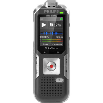Philips DVT6010 Digital Voice Tracer Recorder - 8 GB
