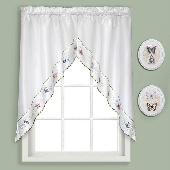 United Curtain Co. Butterfly Rod-Pocket Kitchen Valance