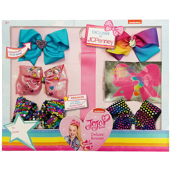 Jojo Siwa Signature Deluxe Set 6 Bows And Bow Holder