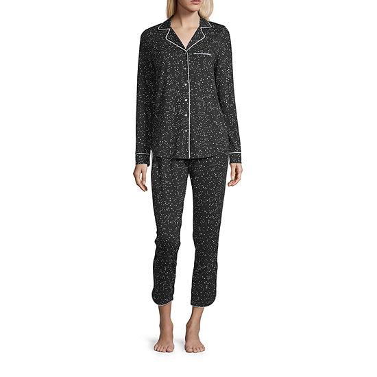 Ambrielle Womens Long Sleeve Pant Pajama Set 2-pc. Talls