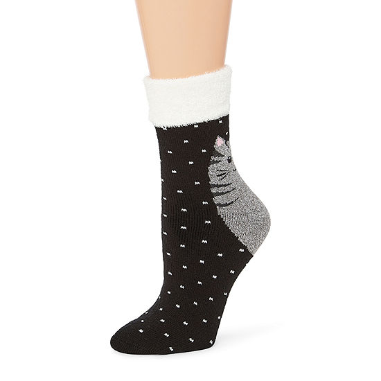 Mixit 1 Pair Printed Critter Socks - Womens