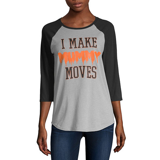 City Streets- Crew Neck Short Sleeve T-Shirt Juniors
