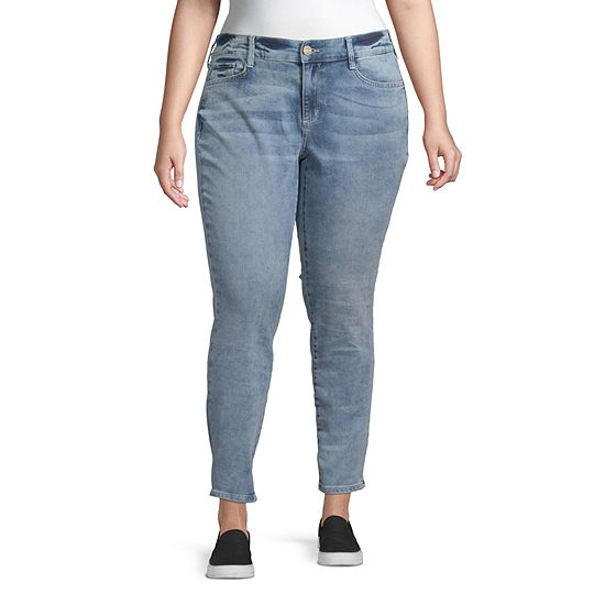 Arizona - Juniors Plus Womens Skinny Fit Jean