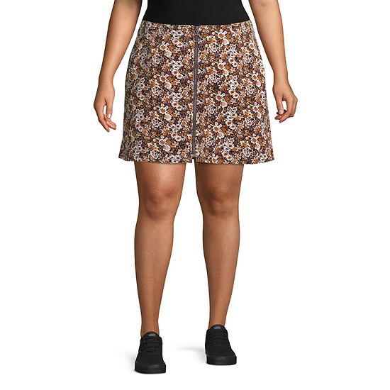 Arizona Womens A-Line Skirt-Juniors Plus