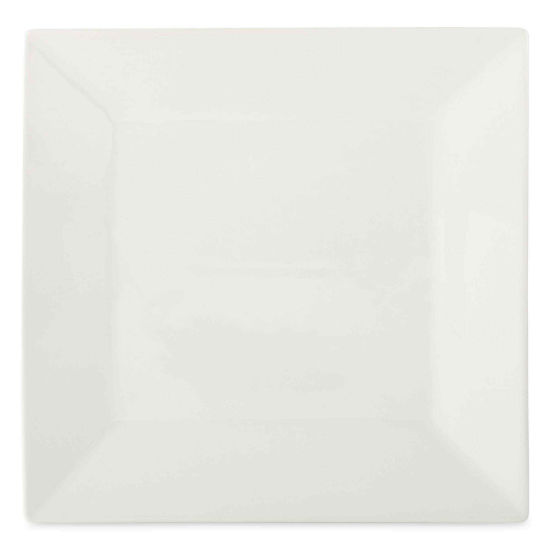 JCPenney Home™ Porcelain Whiteware Set of 4 Square Dinner Plates