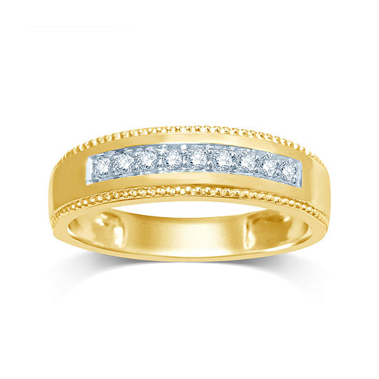 Mens 1 5 Ct Tw Diamond 14k Yellow Gold Band
