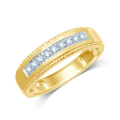 Mens 1/5 CT. T.W. Diamond 14K Yellow Gold Band