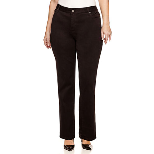 St. John's Bay® Secretly Slender Straight-Leg Jeans - Plus
