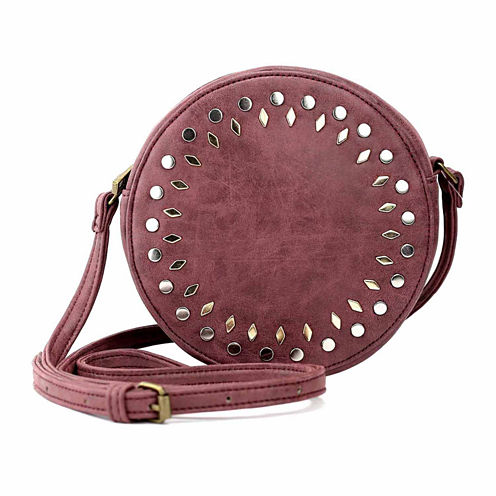 Olivia Miller Amelia Multi Studded Canteen Crossbody Bag