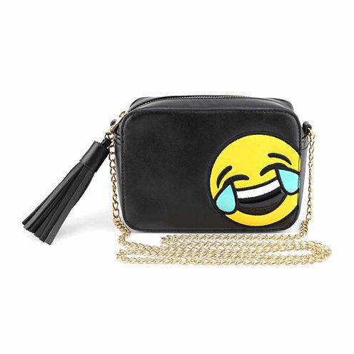 Olivia Miller LOL Tears Emoji Camera Crossbody Bag