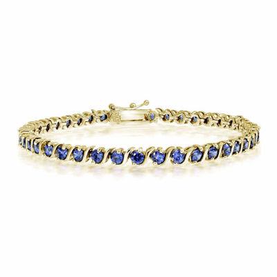 18K Gold Over Silver 7.25 Inch Link Bracelet