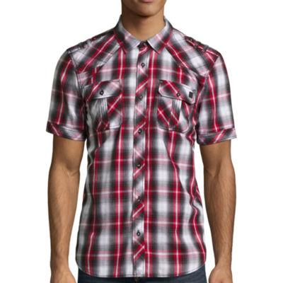 i jeans by Buffalo Marus Short-Sleeve Woven Plaid Shirt